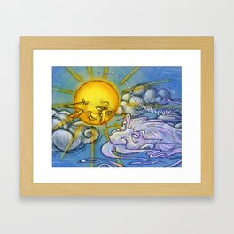 the sun and the wind Framed Art Print