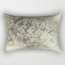 hawthorn blossoms Rectangular Pillow