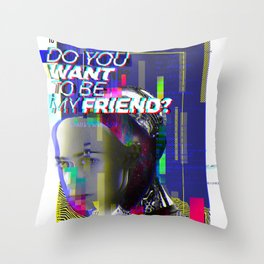 Do you want to be my friend? Throw Pillow