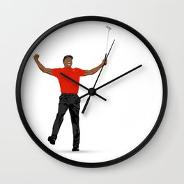 Tiger Woods Masters Champ (White) Wall Clock