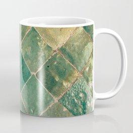 Green Moroccan Pattern Tile Coffee Mug