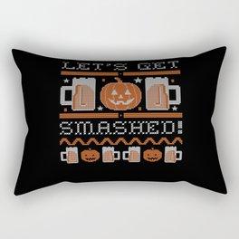 Halloween ASCII Pumpkin Lets Get Smashed Rectangular Pillow