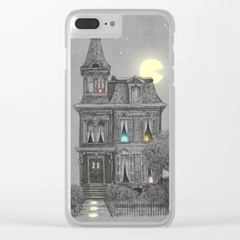 Haunted by the 80's Clear iPhone Case