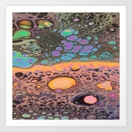 Neon Oil Spill Art Print