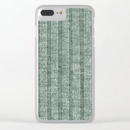Moss Green Jersey Knit Pattern Clear iPhone Case