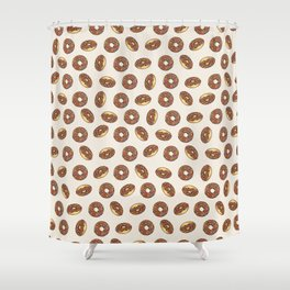 Chocolate Donuts on Cream Shower Curtain