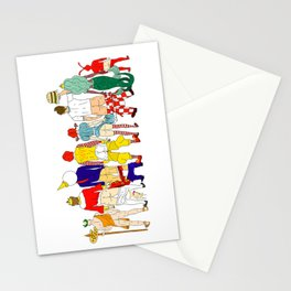 Fast Food Butts Mascots Stationery Cards