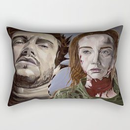 Abigail and Will 2., acrylic painting Rectangular Pillow