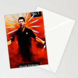 Novak Djokovic,tennis player No.1 Stationery Cards