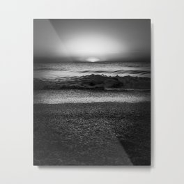 Goodbye Sun Grayscale Metal Print