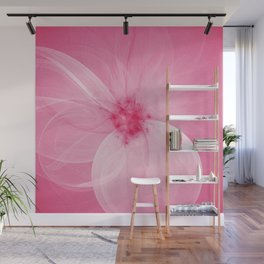 Pink Fairy Blossom Fractal Wall Mural