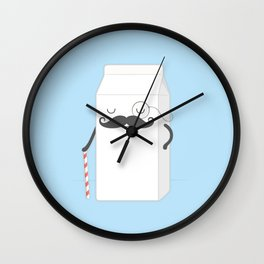 sir milk moustache Wall Clock