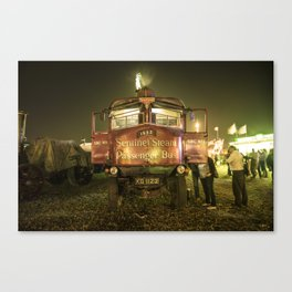 Sentinel Steam Bus by night  Canvas Print