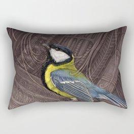Bird Alien Ship Rectangular Pillow