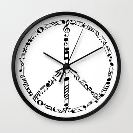 Music peace Wall Clock