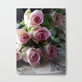 Roses From Paris Metal Print