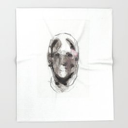 Woman With Head Wound Throw Blanket