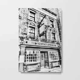 Prospect of  Whitby Pub London 1520 art Metal Print