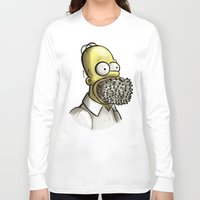 simpson Long Sleeve T-shirts featuring Homer Simpson [File Photo] by ieIndigoEast