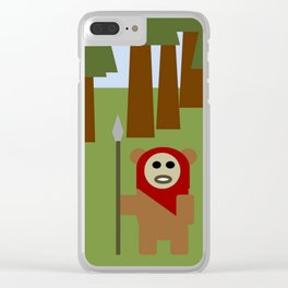 Wicket the Ewok- Tree Hugger Clear iPhone Case