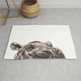 Peeking Baby Hippo Rug