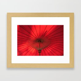 Red Parasol Framed Art Print