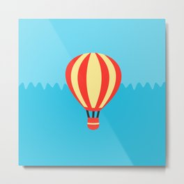 Classic Red and Yellow Hot Air Balloon Metal Print