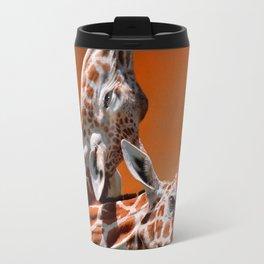 Giraffes couple in love Travel Mug