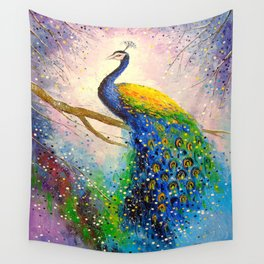 Gorgeous peacock Wall Tapestry