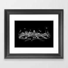 Cincinnati, Ohio City Skyline Framed Art Print