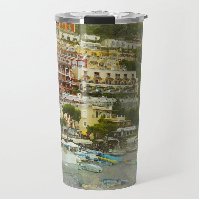 Positano Coastline Travel Mug
