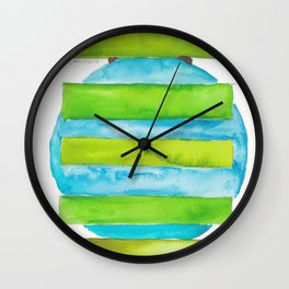 180818 Geometrical Watercolour 5 Wall Clock