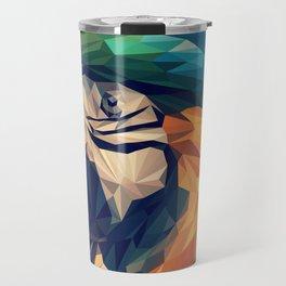 Parrot Head Illustration (Vector) Travel Mug