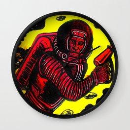 Retro Rocketman Wall Clock