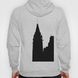 peace tower in black and white ottawa Hoody