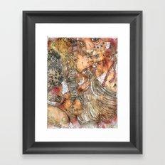 Spew All Over You Framed Art Print
