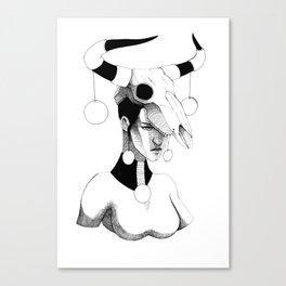 Woman & Skull Canvas Print