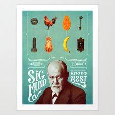 Sigmund Knows Best Art Print