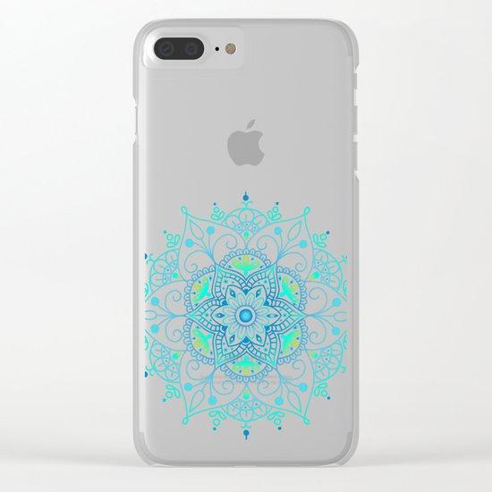 Mandala_Cerulean Clear iPhone Case