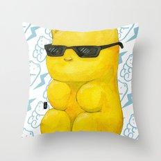 summer gummy bear Throw Pillow