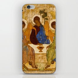 Holy Trinity Icon Byzantine Orthodox Rublev Gift for Priest Religious Artwork iPhone Skin