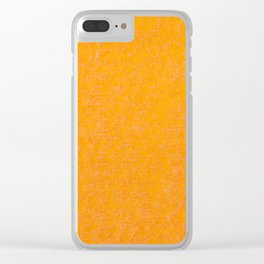 Yellow orange material texture abstract Clear iPhone Case