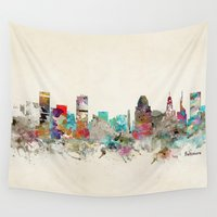 maryland Wall Tapestries featuring baltimore maryland by bri.buckley