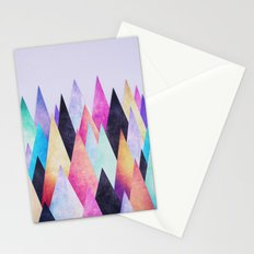 Colorful Abstract Geometric Triangle Peak Wood's  Stationery Cards