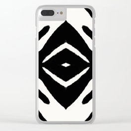 Black Ink Medallion by Juul Clear iPhone Case