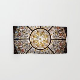 Stained glass window glass ceiling Hand & Bath Towel