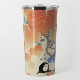 The bird and the leaves Travel Mug