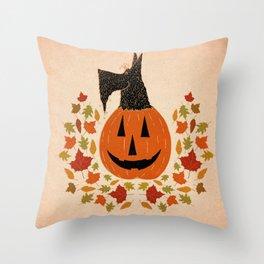Scottie Pumpking halloween Throw Pillow