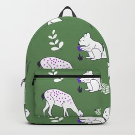Wildlife - Happy Forest Animals Green Backpack