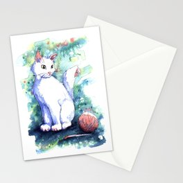 Playing Kitty Stationery Cards